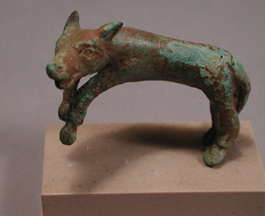 500-450 BC Rare Classical Greek Bronze of a Leaping Hunting Dog