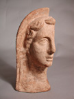 200-100 BC Etruscan Votive Terracotta Head